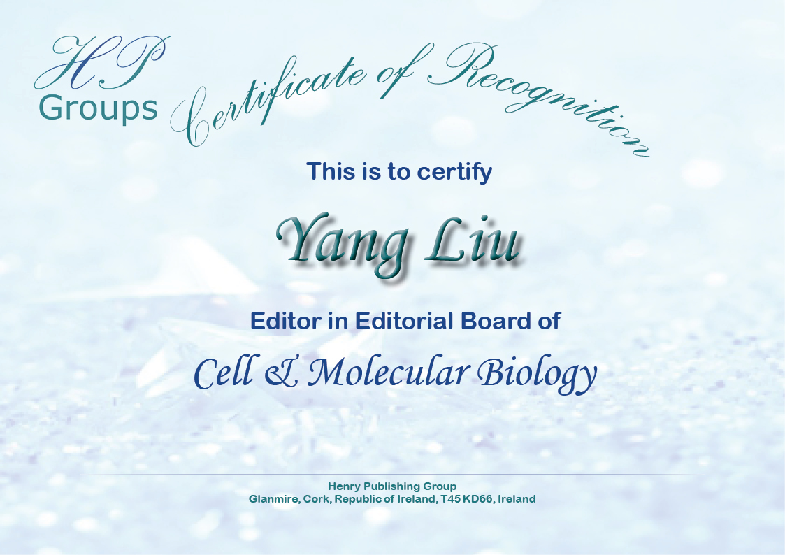 Henry Journal of Cell & Molecular Biology – Henry Publishing
