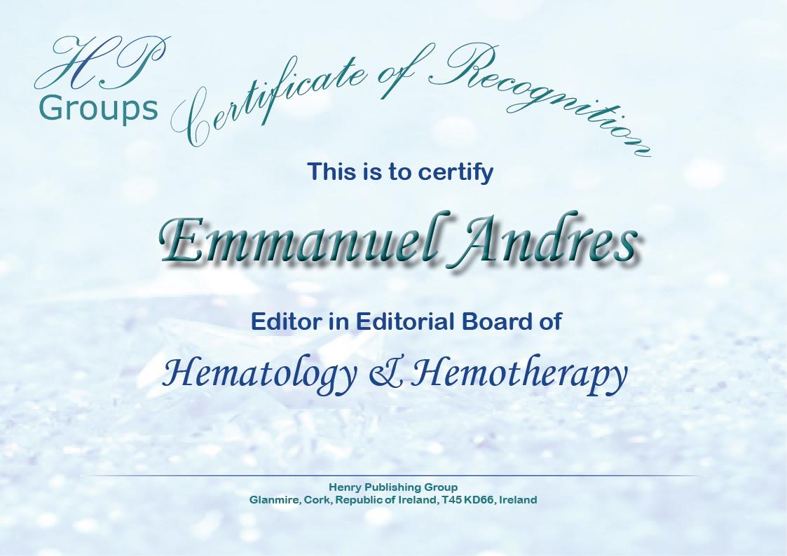Henry Journal of Hematology & Hemotherapy – Henry Publishing