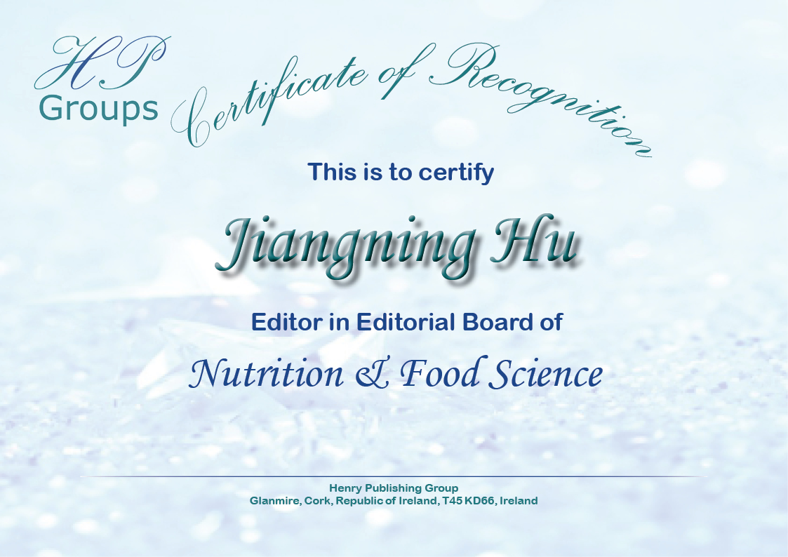 Henry Journal of Nutrition & Food Science – Henry Publishing Groups