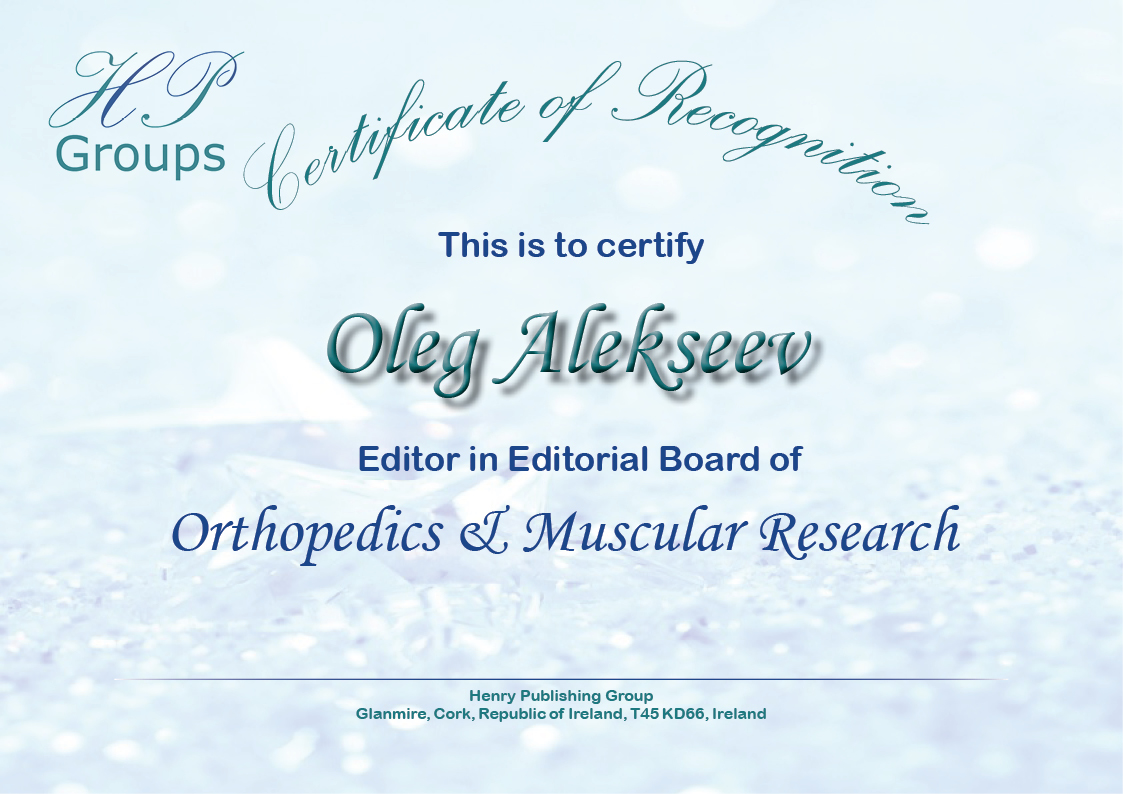 Henry Journal of Orthopedics & Muscular Research – Henry Publishing ...